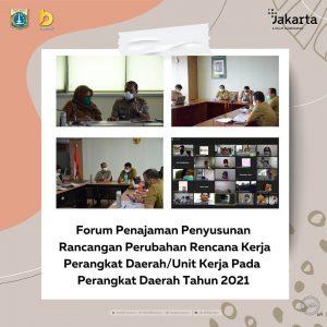 Forum Penajaman Penyusunan Rancangan Perubahan Rencana Kerja Perangkat Daerah/ Unit Kerja pada Perangkat Daerah Tahun 2021